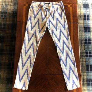 Mexx Zig ZagPatterned White Jeans